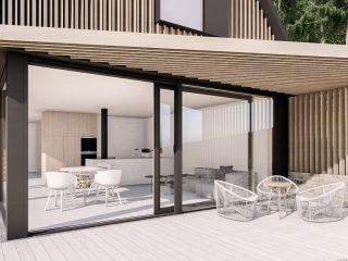 Interiér soběstačného domu