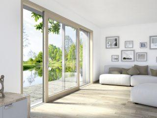 Okno s výhledem na rybník