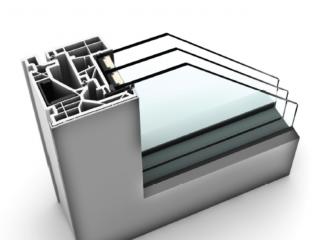 Průřez oknem Internorm KF 520